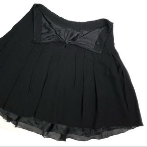 Akris Skirts - Akris Black A Line Classic Mini Skirt